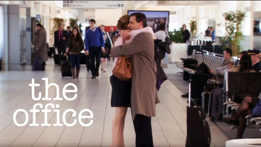 Pam and Michael of The Office. Pic: YouTube